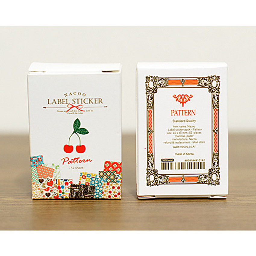 Package for Pattern romantic vintage label sticker set