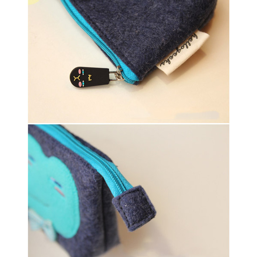 Detail view of Hellogeeks cute bosong bosong small pouch