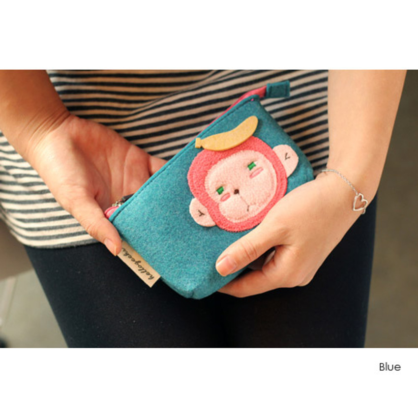 Blue - Hellogeeks cute bosong bosong small pouch