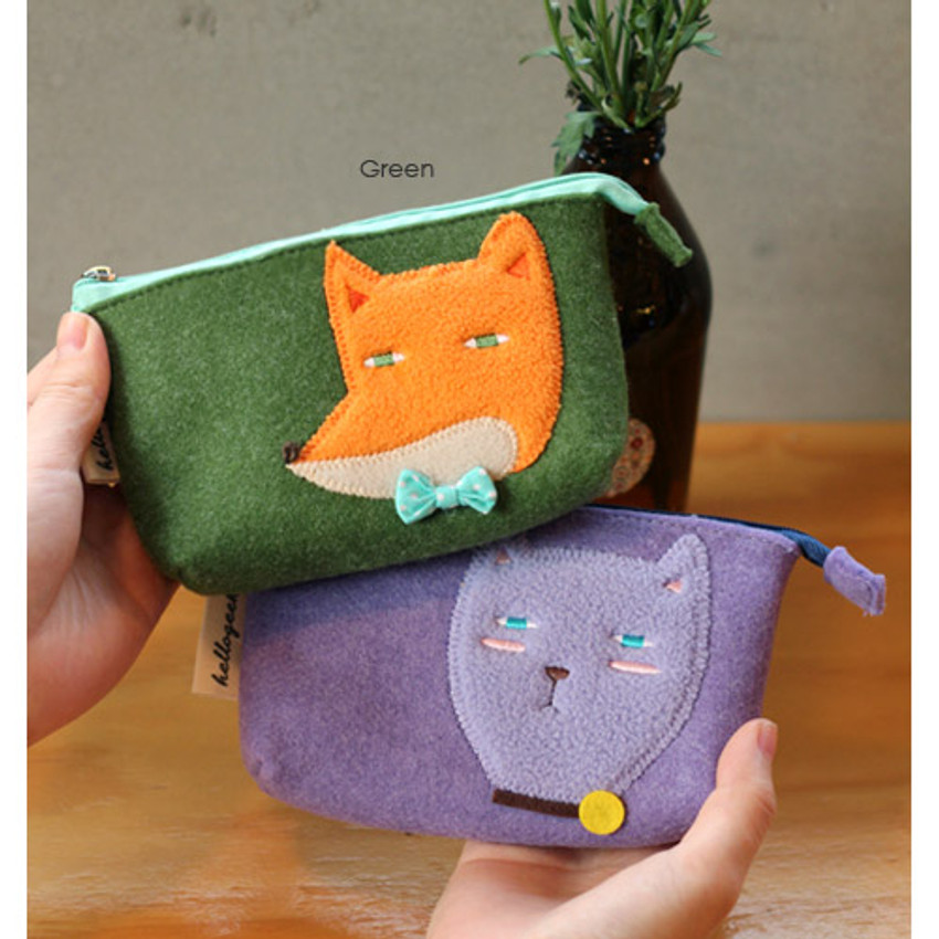 Green - Hellogeeks cute bosong bosong small pouch