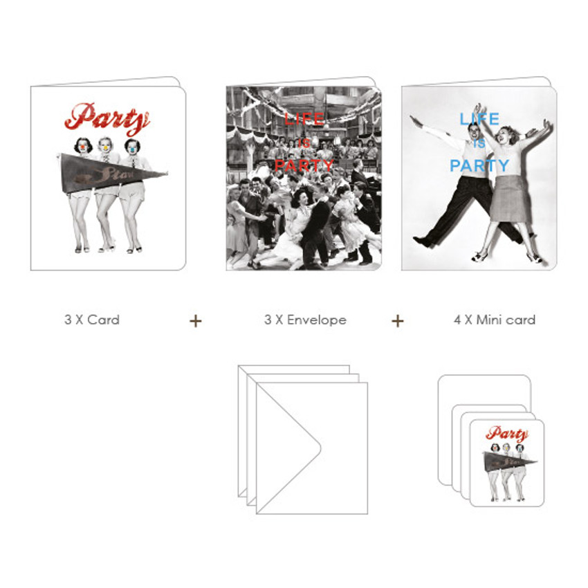 Composition of Life is party vintage card and envelope set