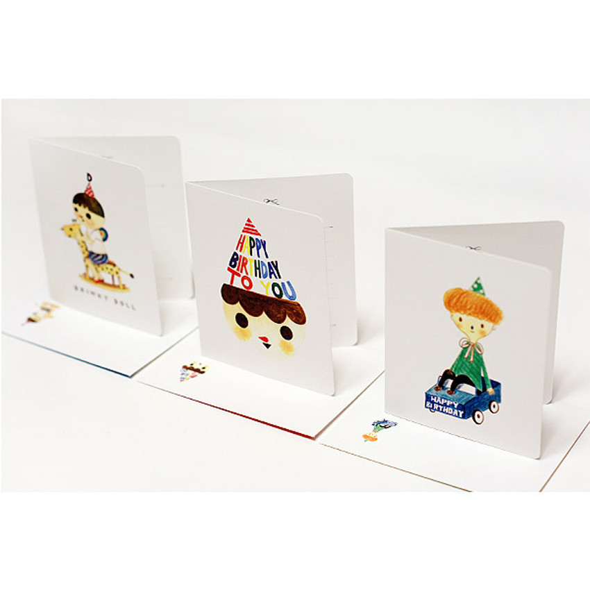 Drinky doll happy birthday card and envelope set