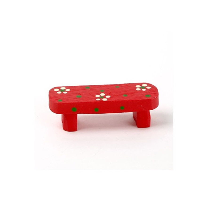 Decorative cute resin chair red bench