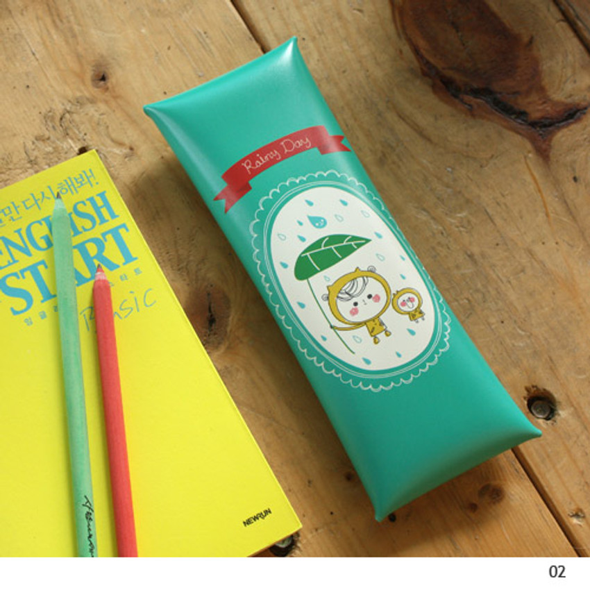 02 - Today's picture diary folding pencil case