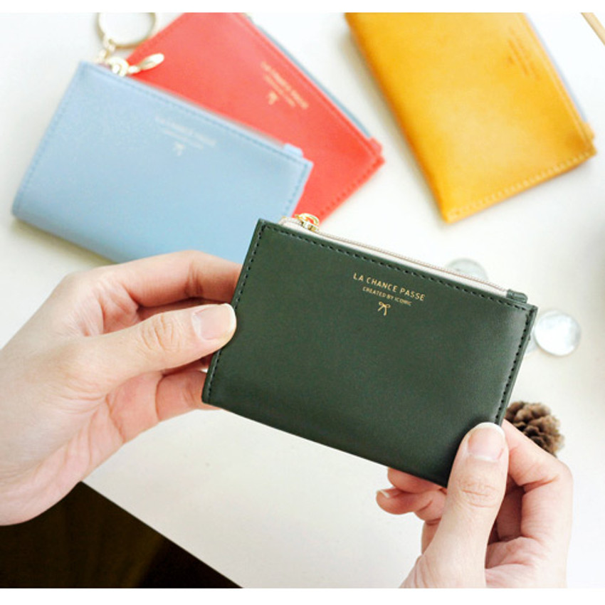 ca7e81f71b Iconic Coin card zipper wallet holder with Key ring ver.2