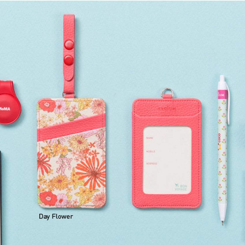 Day flower - Flower pattern travel luggage name tag