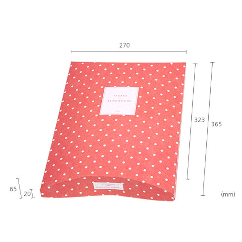 Size of Patterned gift paper bag large set of 2 styles