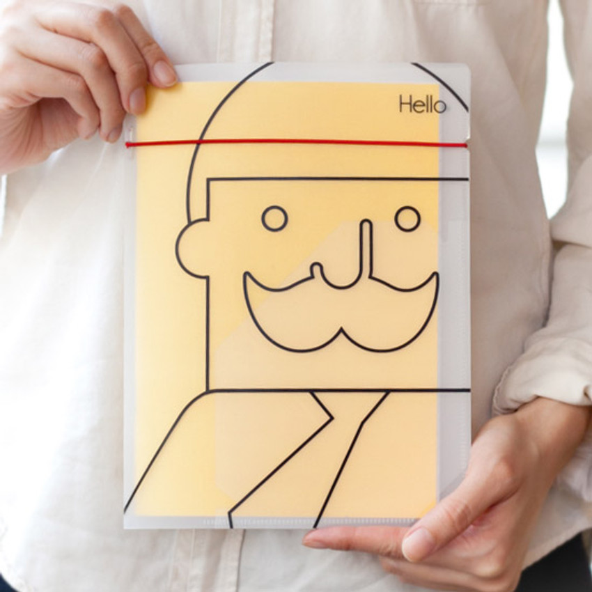 Mr.Babba A4 lined notebook with file folder