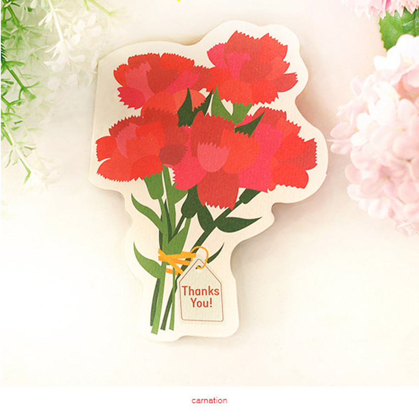 Carnation - Holiday thank you message card