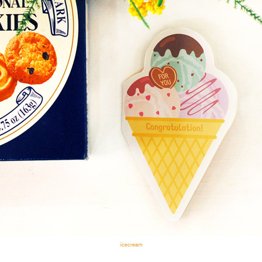 Icecream - Holiday thank you message card