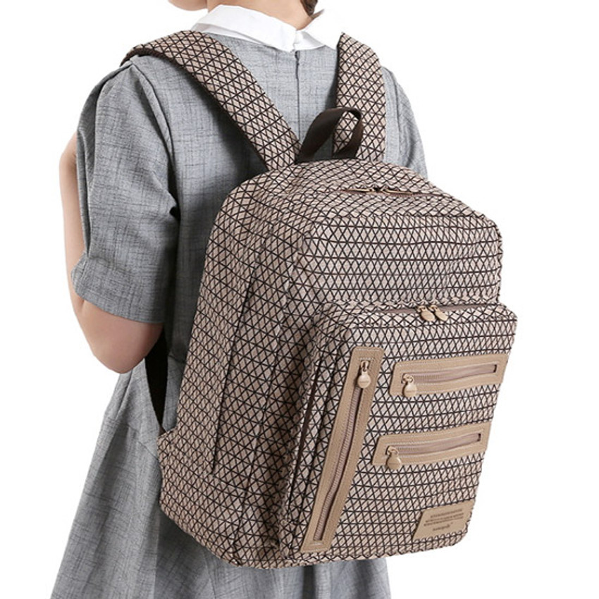 Wire netting choco - Monopoly Vintage pattern easy carry backpack