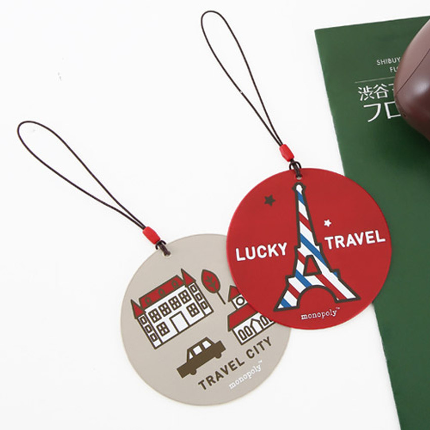 Cute illustration travel luggage name tag ver.3