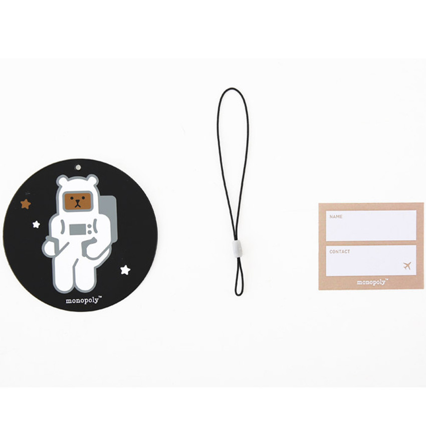 Composition of Cute illustration travel luggage name tag ver.3