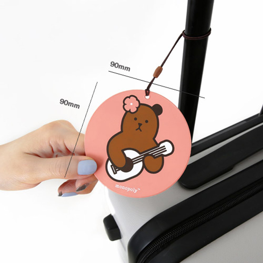 Size of Cute illustration travel luggage name tag ver.3