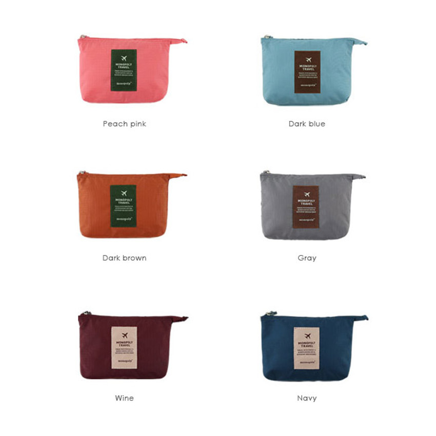 Colors of Travel mesh small zipper pouch ver.2