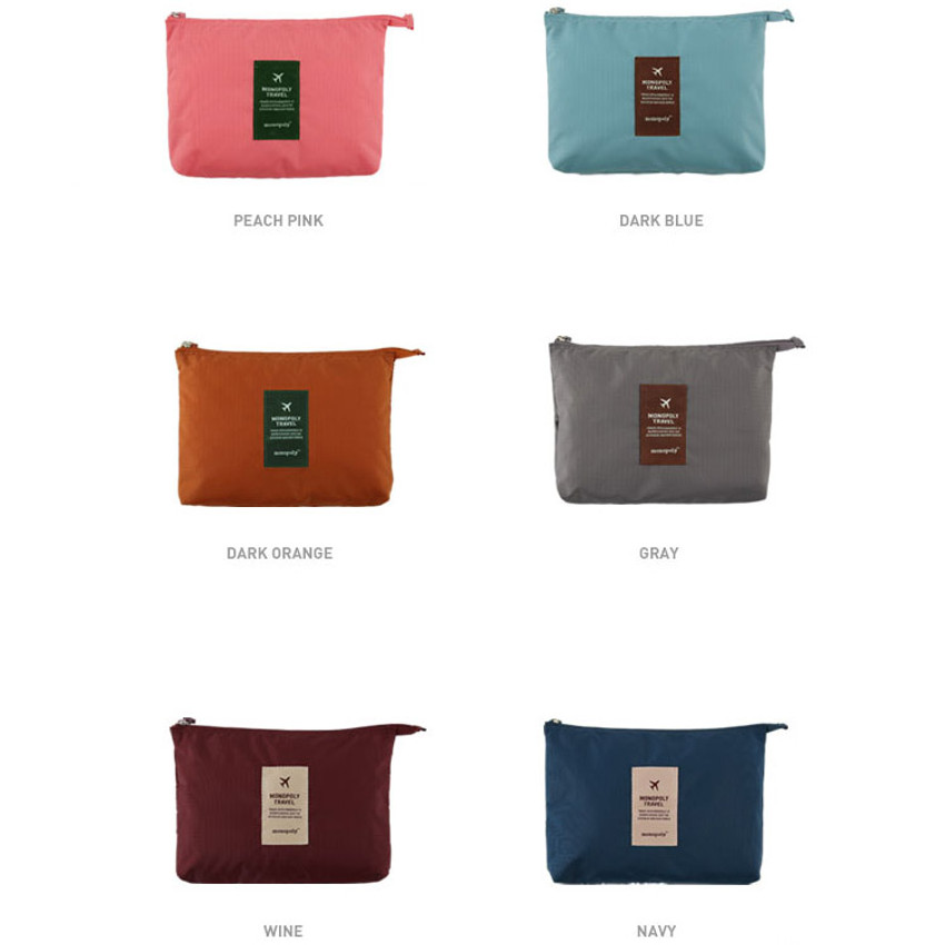 Colors of Travel mesh large zipper pouch ver.2