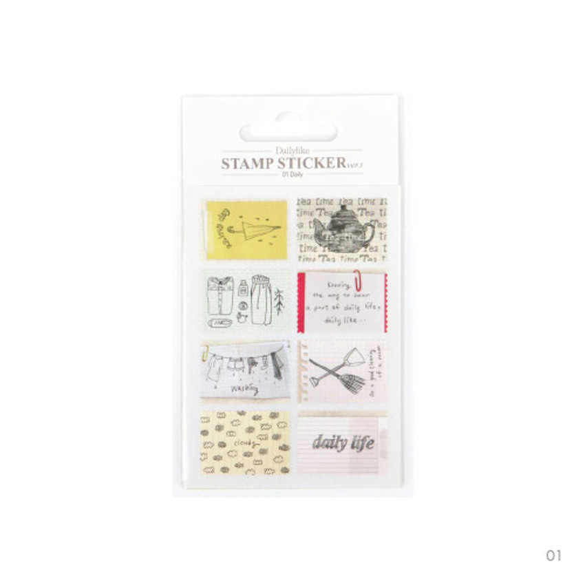 01 - Stamp deco sticker set ver.3