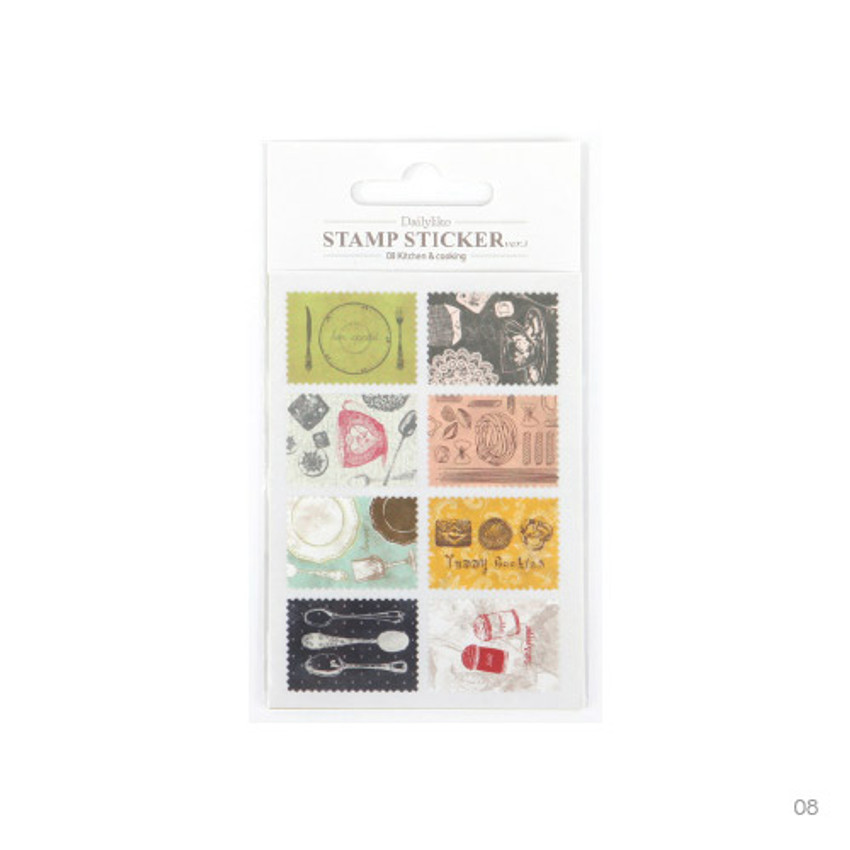 08 - Stamp deco sticker set ver.3