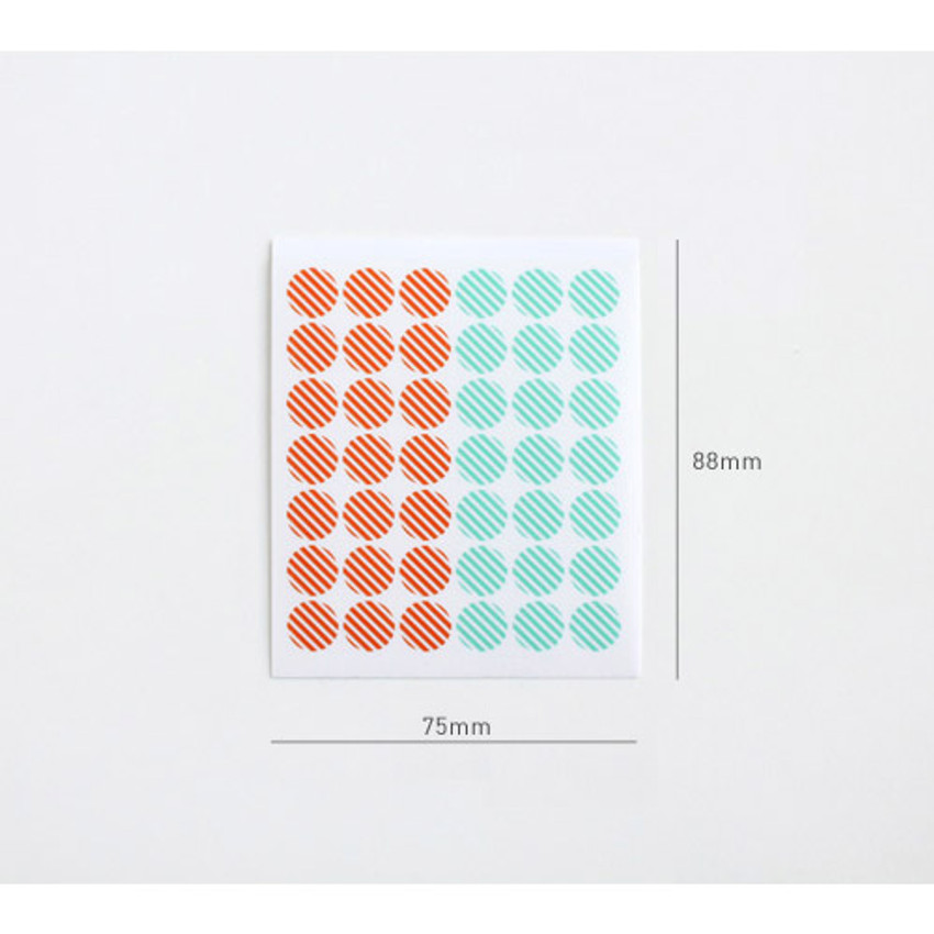 Size of Transparent circle deco sticker set