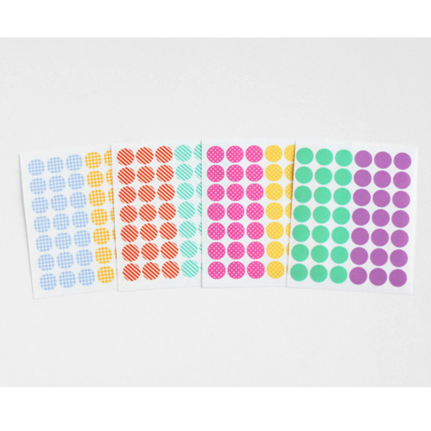 Transparent circle deco sticker set