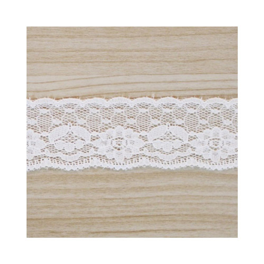 white cotton lace roll tape - 30
