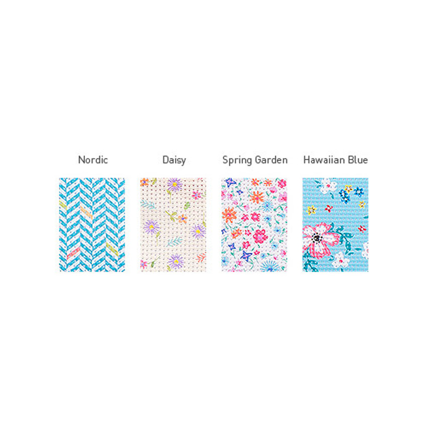 Patterns of Summer pattern flat zipper pouch small