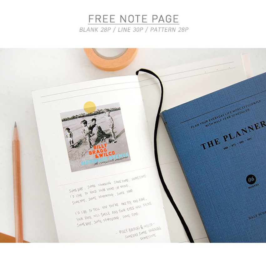 Free note page