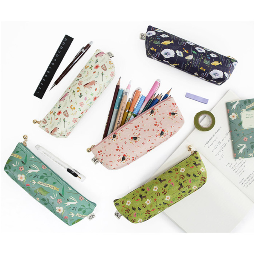 Willow story illustration pattern pencil case