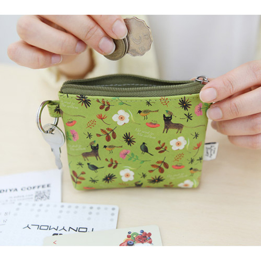 Olive - Willow story illustration pattern coin case wallet