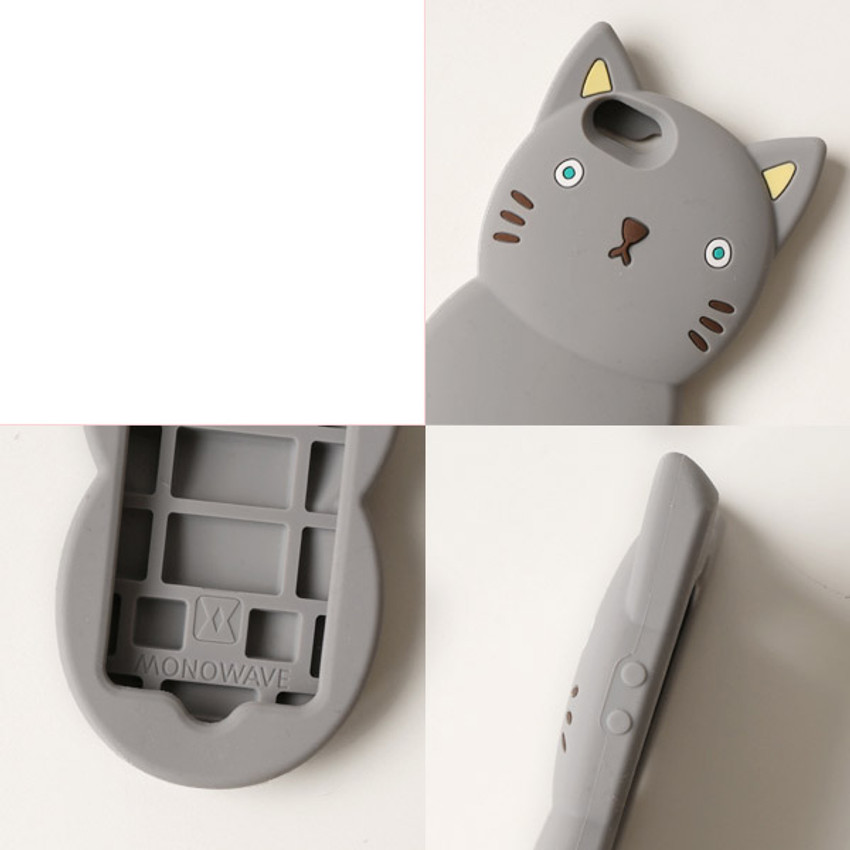Detail of Monomate cute cat iPhone 5/5S jelly case