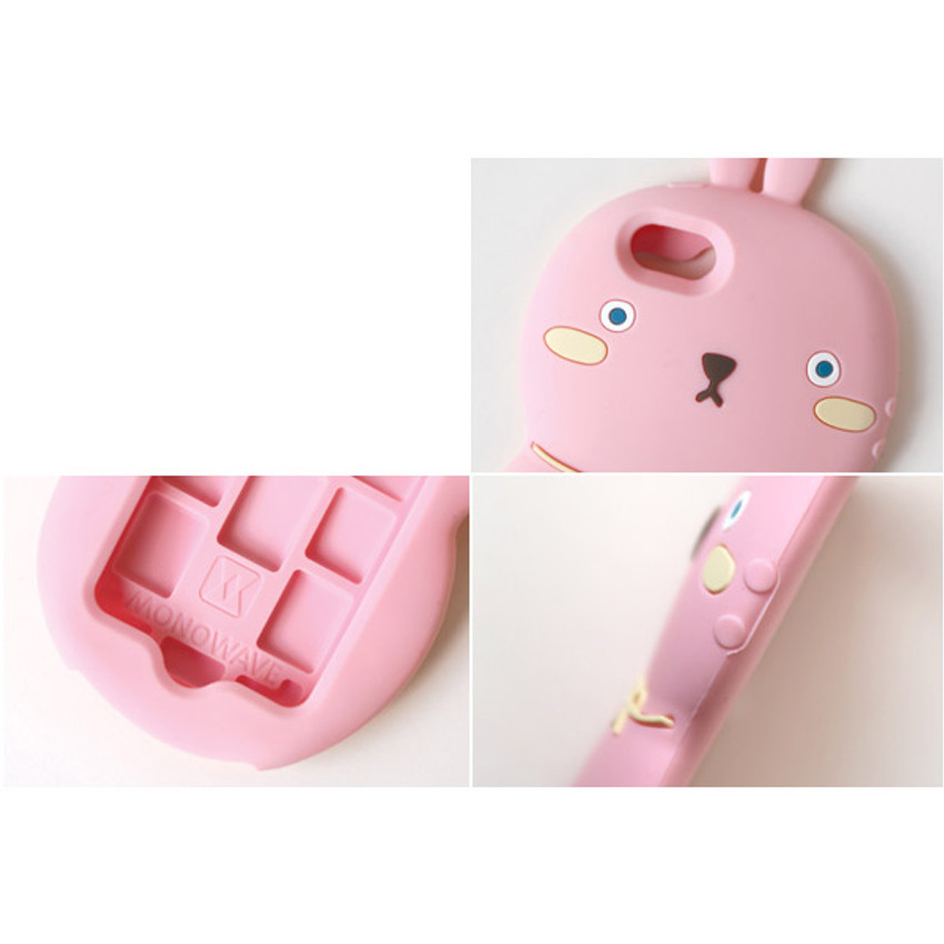 Detail of Monomate cute rabbit iPhone 5/5S jelly case