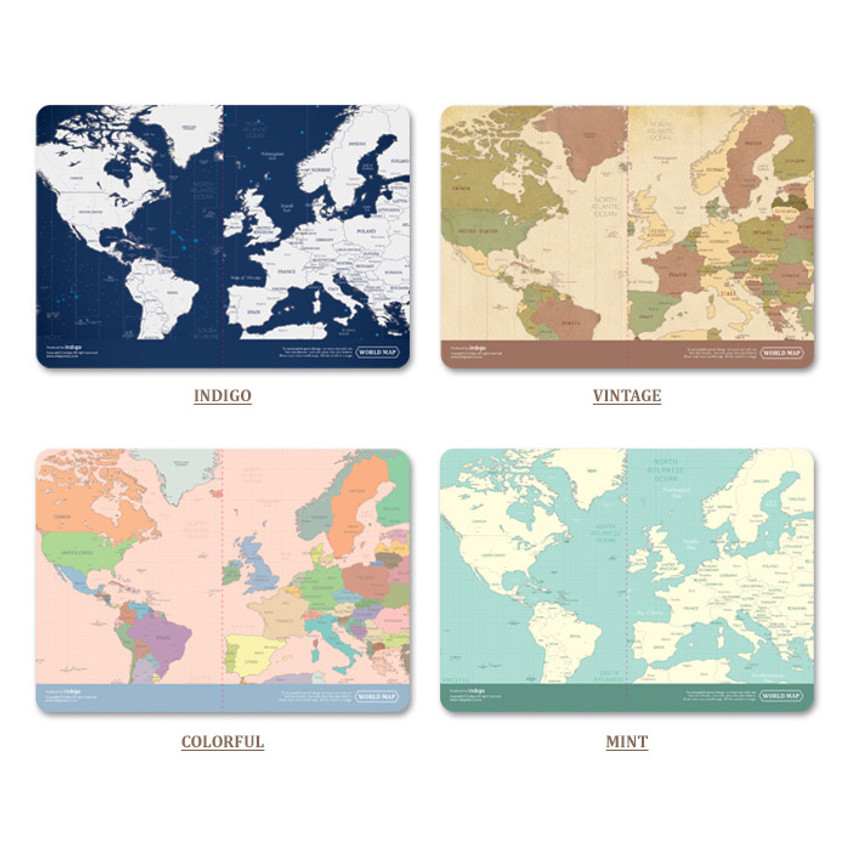 Colors of World map passport cover case