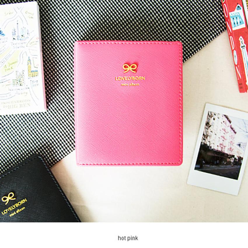 Hot pink - Lovelyborn instax mini slip in photo album