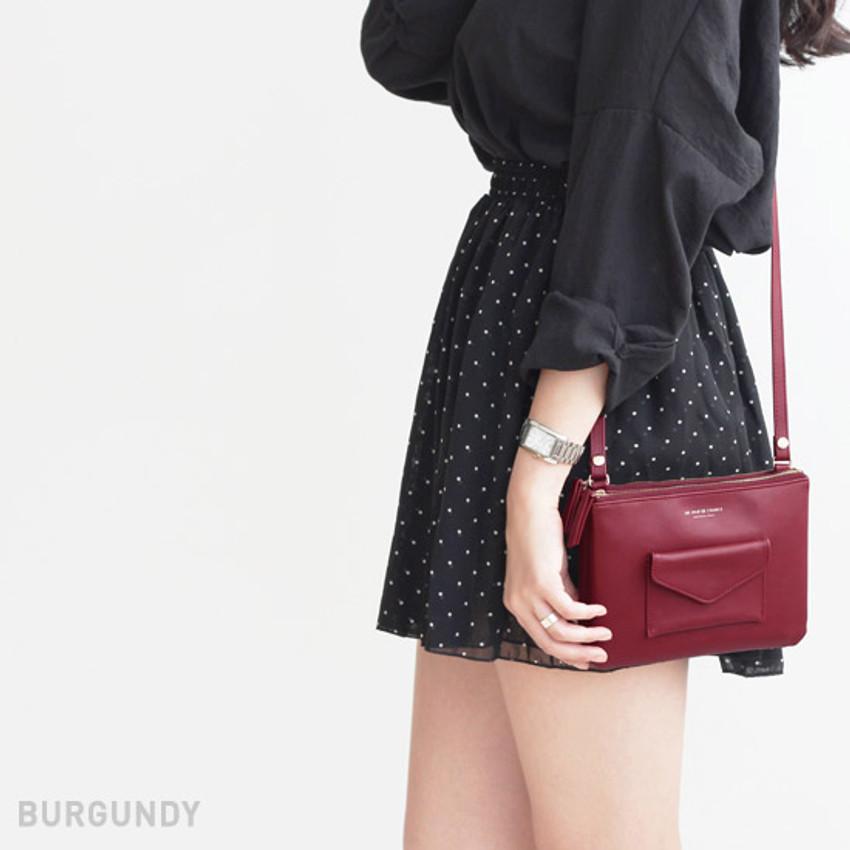 Burgundy - Pochette daily point cross body bag
