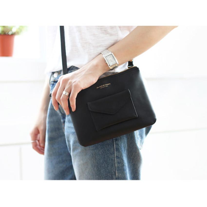 Black - Pochette daily point cross body bag