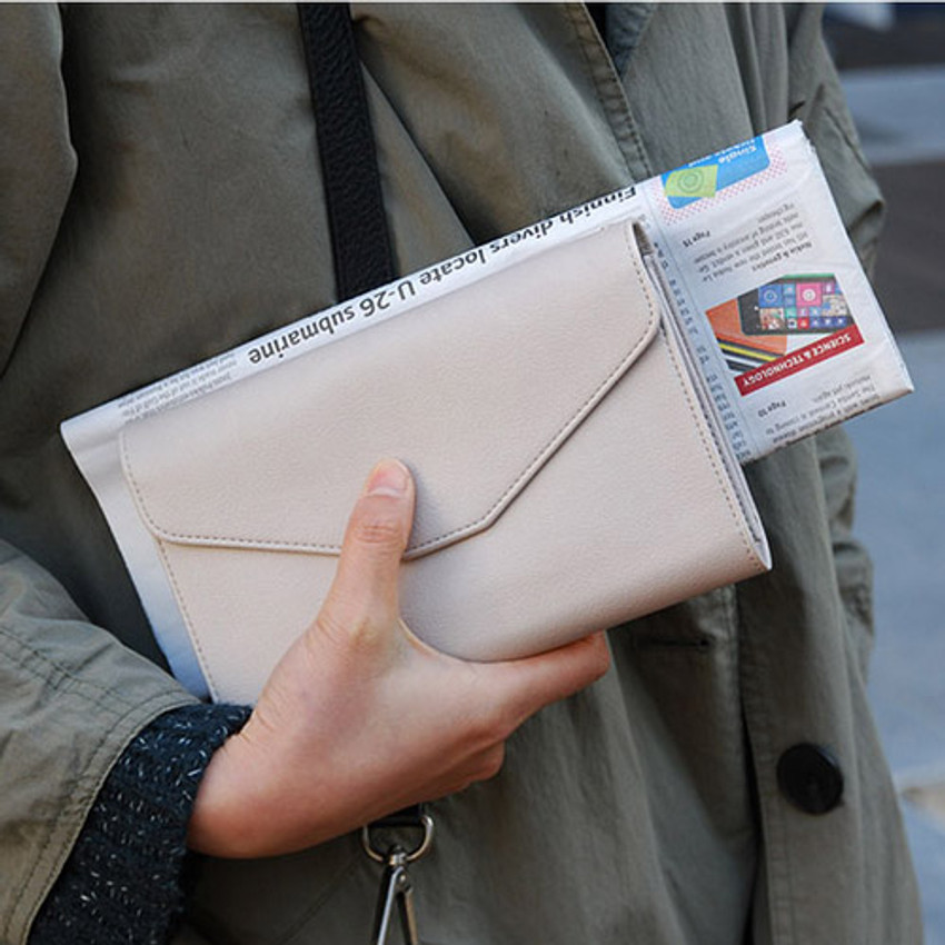 Mud grey - Happy holiday clutch wallet