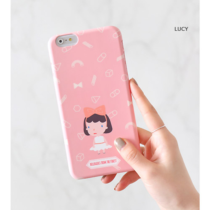 Lucy - Hellogeeks from the forest pattern case for iPhone 6 plus