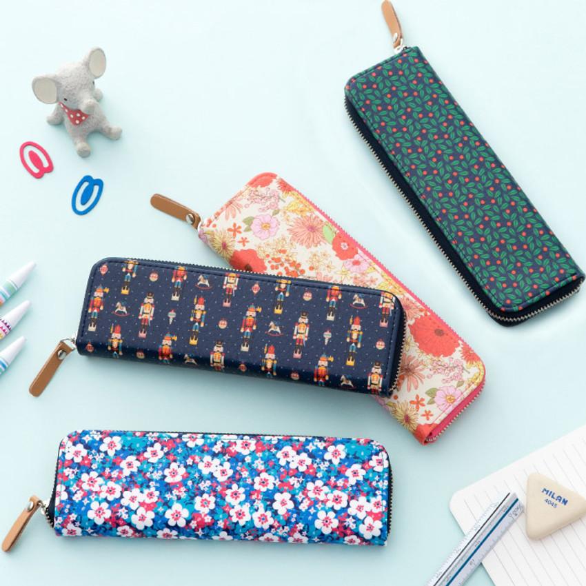 Pattern handy zipper pencil case