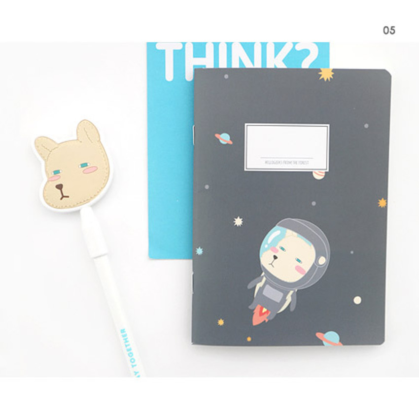 05 - Hellogeeks cute illustration small lined notebook