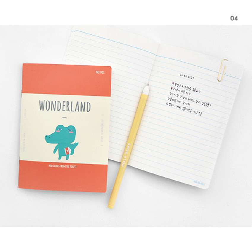 04 - Hellogeeks cute illustration small lined notebook