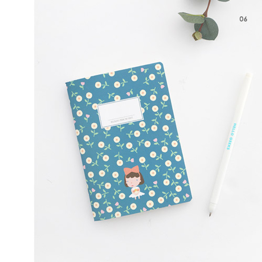 06 - Hellogeeks cute illustration small lined notebook