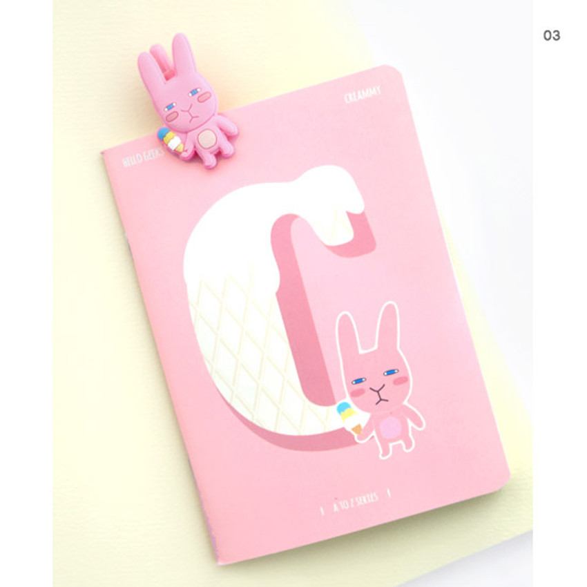 03 - Hellogeeks cute illustration small lined notebook