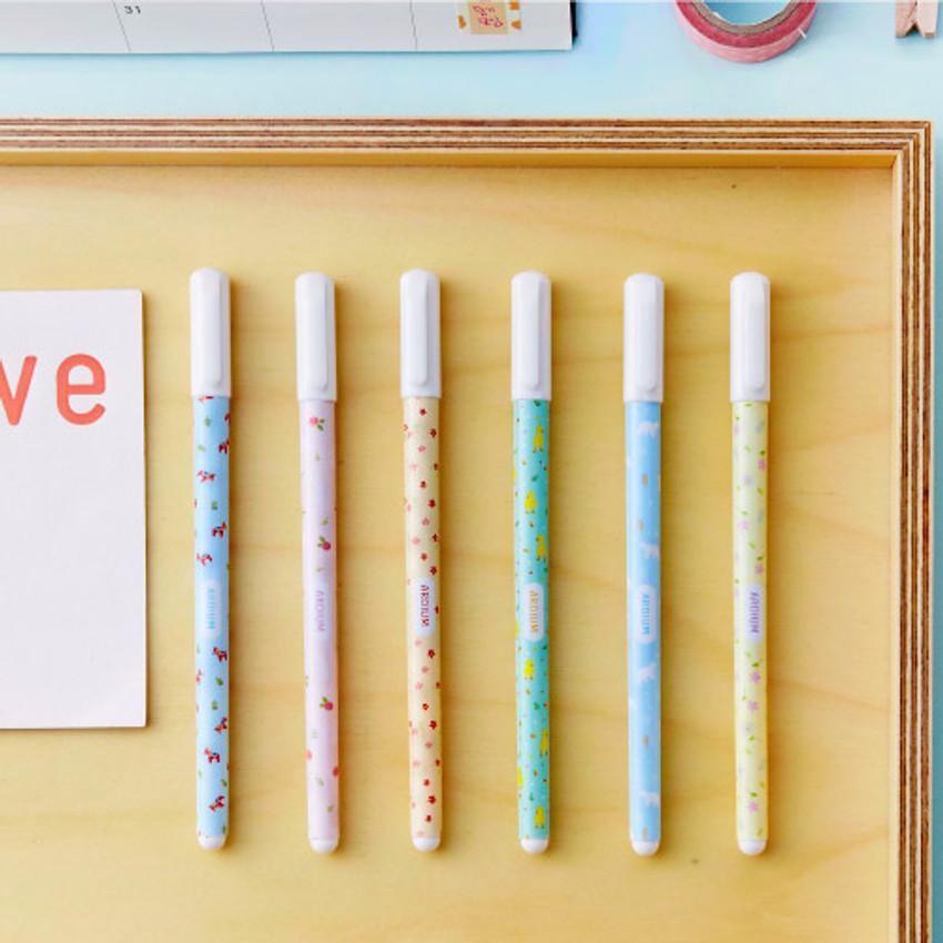 Pattern pastel gel pen 0.6mm