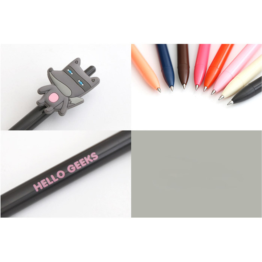 Detail of Cute gel pen with soft rubber character 0.38mm ver.3