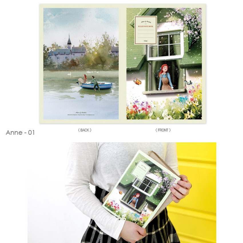 Anne 01 - Cute illustration school lined notebook