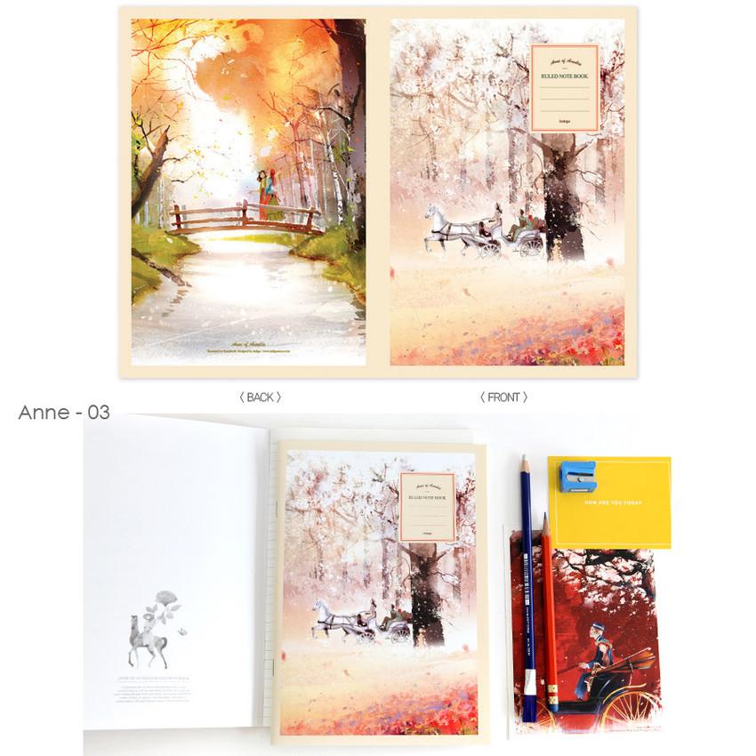 Anne 03 - Cute illustration school lined notebook