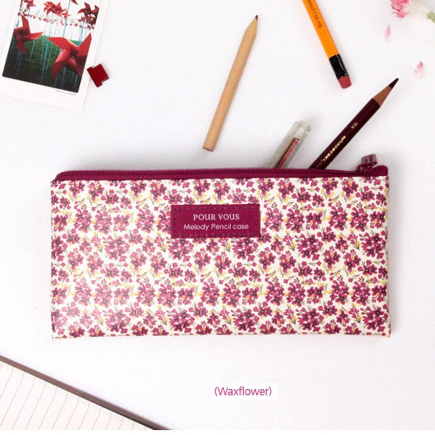 Waxflower - Pour vous melody zipper pencil pouch