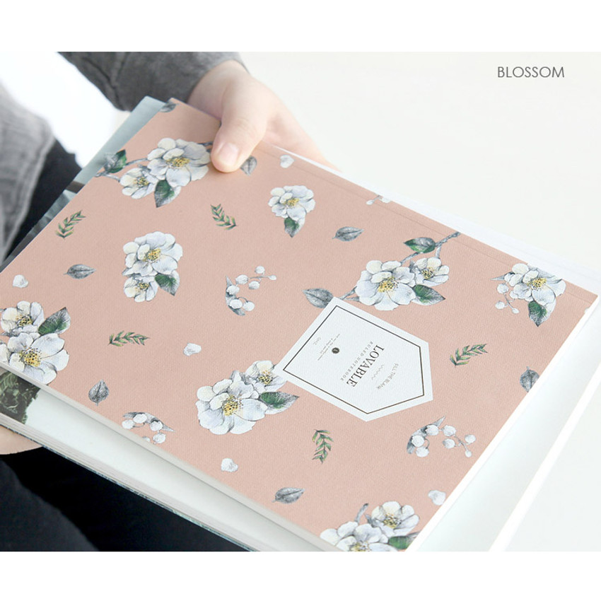 Blossom - Fill the blank lovable pattern lined notebook