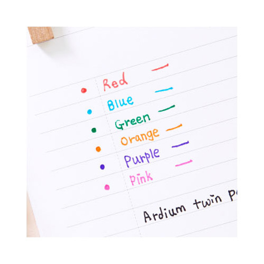 Colors of Pattern bright color 0.4mm twin gel pen