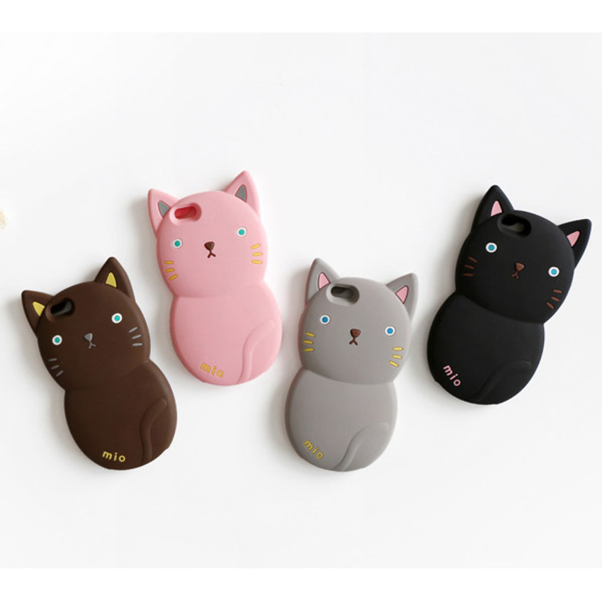 Monomate cute cat iPhone 6 jelly case